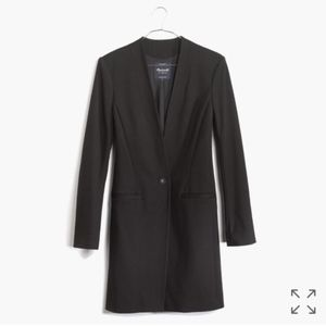 Madewell Black Long Blazer Coat - Fits XS/S